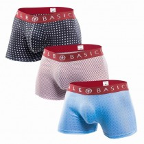 MBT01-Malebasics New Trunk Short Boxer 3-Pack